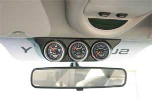 AutoMeter Overhead Windshield Triple Gauge Mount #18017