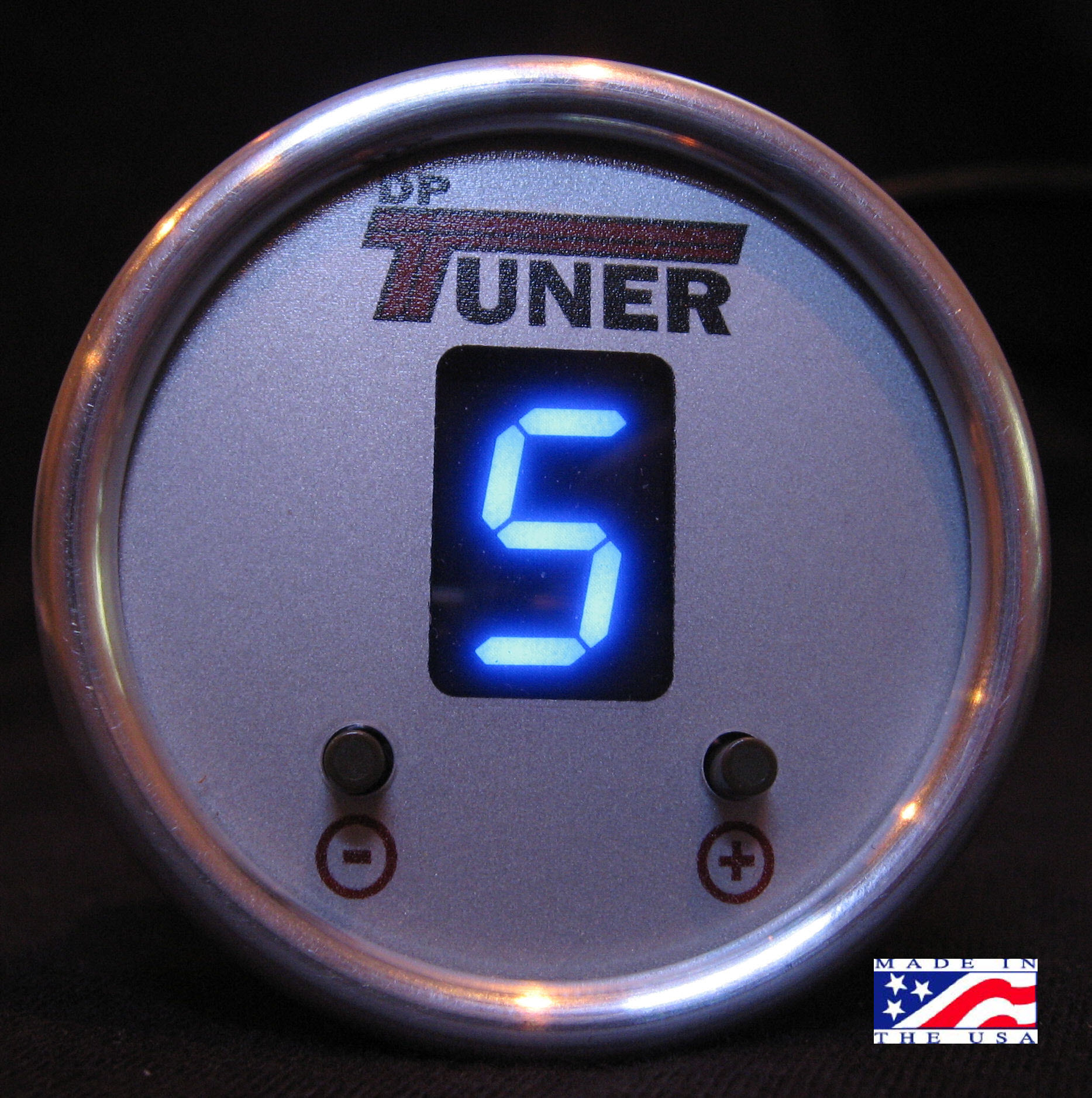 F5 & F6 Gauge Switcher Blue Silver Bezel Silver Face