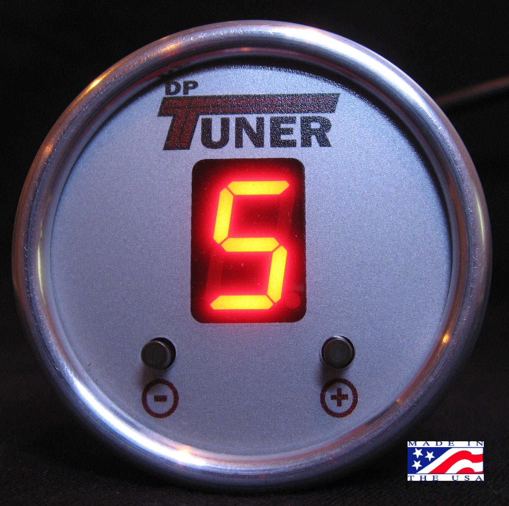 F5 & F6 Gauge Switcher Red Silver Bezel Silver Face