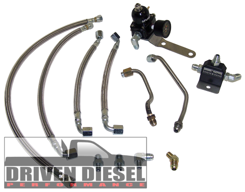 Driven Diesel 7.3L OBS Fuel Bowl Delete Regulated Return System (req. Elec. Pump Conversion) (This item is made to order and drop shipped from Driven Diesel)