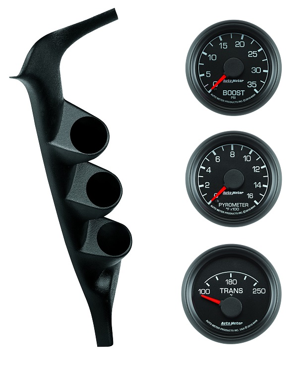 1994-1997 OBS Autometer Ford Factory Match Triple Gauge Set